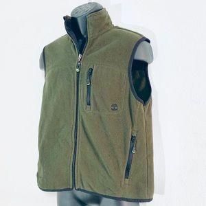 ❄️ Timberlands Men's Olive Green Fleece Vest Sz S